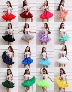 Image 2 - פרח בנות שמלות תחתוניות תחתונית קוספליי מפלגה קצרה שמלה לוליטה תחתונית בלט טוטו חצאית רוקבילי ילדים קרינולינה