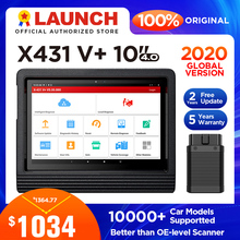 "Lansmanı X431 V + V artı 10 ""teşhis aracı otomatik kod okuyucu obd2 tarayıcı ECU kodlama obd 2 obdii wifi Bluetooth teşhis tarayıcı"