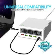 Ilepo 65ワットusb c充電器急速充電電源アダプタmacbook proのiphoneサムスンQC4.0 qc PD3.0 pd USB Cタイプc高速usb充電