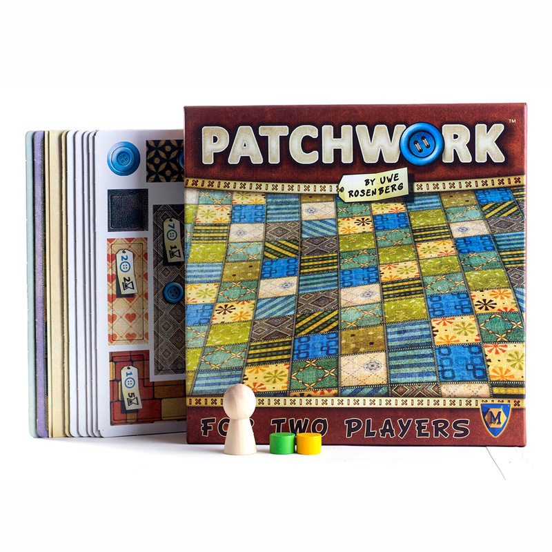 Patchwork Board Game For Two Players Funny Party Games Paper Cards Chinese/English Version Free Shipping
