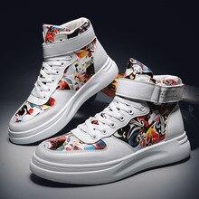 Autumn INS Hong Kong Style Popular Brand Harajuku Graffiti Shoes
