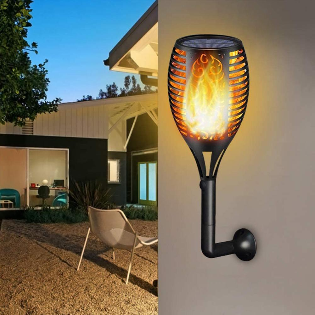 51/72/96 Led Solar Light Outdoor Waterproof Flickering Lamp Decoration Flame Home Lamp Garden Aisle P3E6