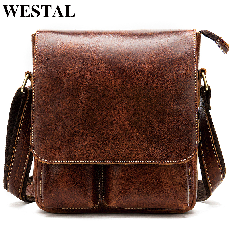 SEALINF Mens Leather Shoulder Crossbody Bag Briefcase Handbag Messenger Bag