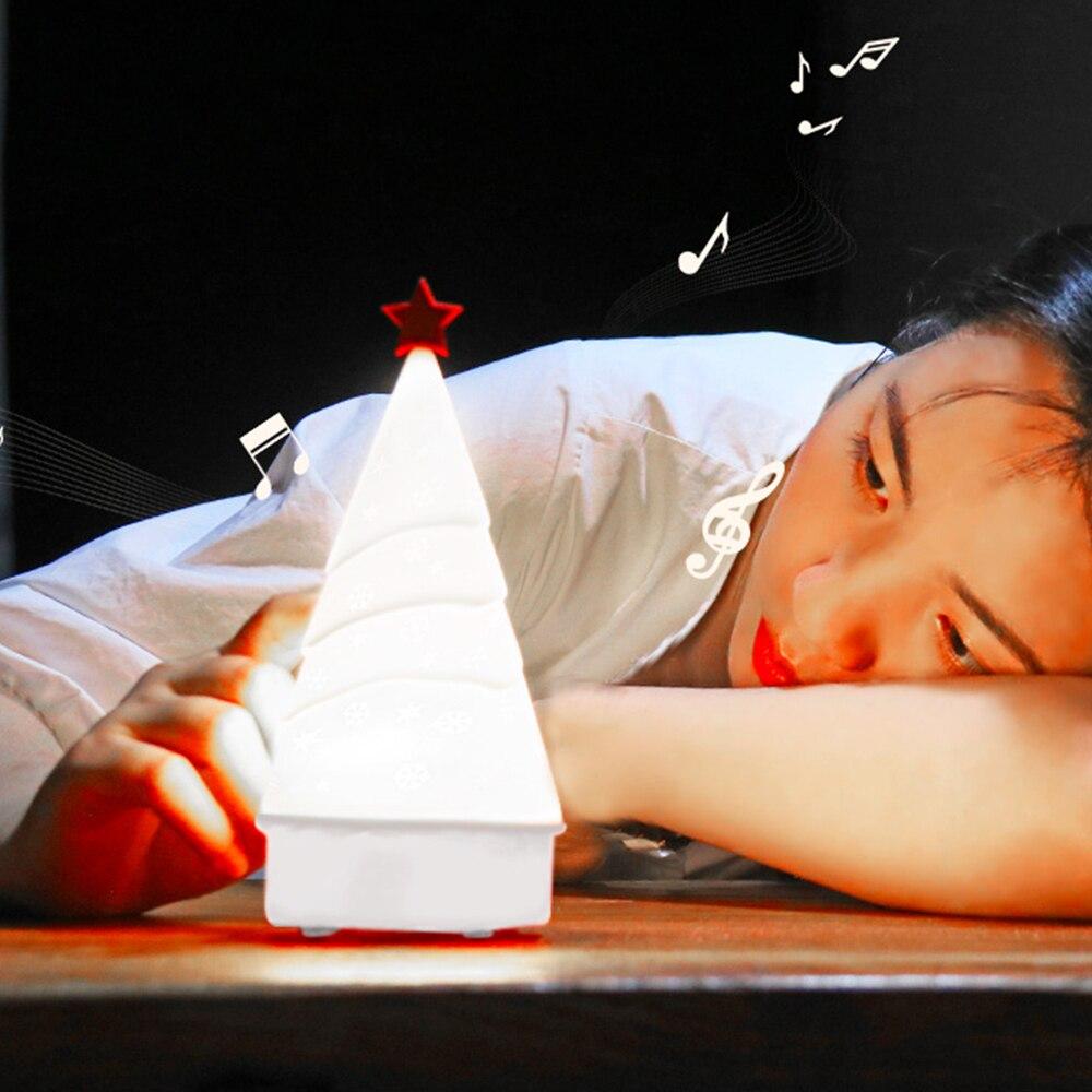 Babbo natale Ligh Albero Di Natale Accarezzò Silicone HA CONDOTTO LA Luce di Notte 4 di Colore del Sensore di Tocco di Controllo Regalo per I Bambini Del Bambino bambini O16 - 2