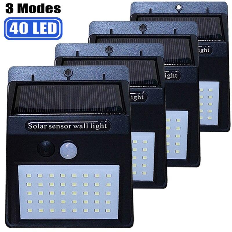 40 LED Solar Light PIR Motion Sensor Solar Garden Light Waterproof Outdoor Energy Saving Street Yard Path Home Lamp