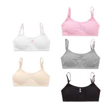 5Pc/lot  Young Girls Bra Cotton Training Bra Teenagers Lingerie Underwear 8-14Years