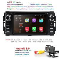 Четырехъядерный Android 9,0 автомобильный стерео DVD gps плеер Navi для Jeep Compass/Wrangler Chevrolet Epica/Chrysler Sebring Aspen Cirrus DAB