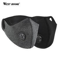 West biking pm2.5 máscara de poeira carvão ativado com filtro lavável esporte ciclismo máscara facial bicicleta mtb máscara facial