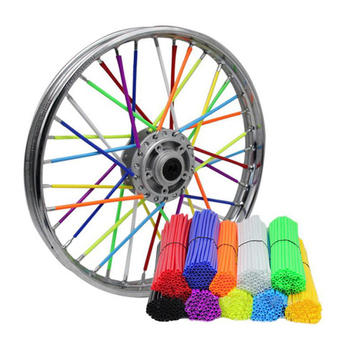 36PCS Universal Motorcycle Dirt Bike Wheel Rim Spokes 170x10mm Motorcycle Wheel Skin Covers Protector Car Tires Accessories image
