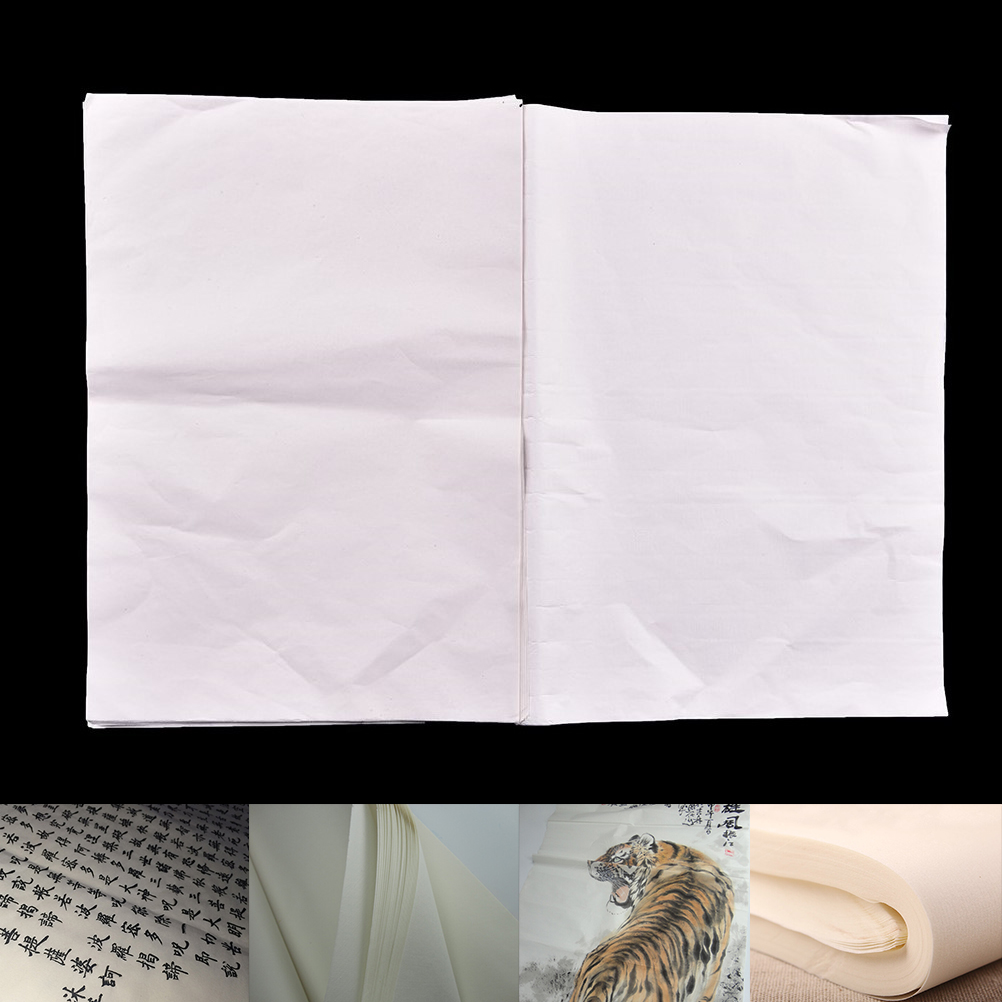 New 30sheets/pack Xuan Paper Chinese Raw Rice Paper Painting Calligraphy Painting Rice Paper