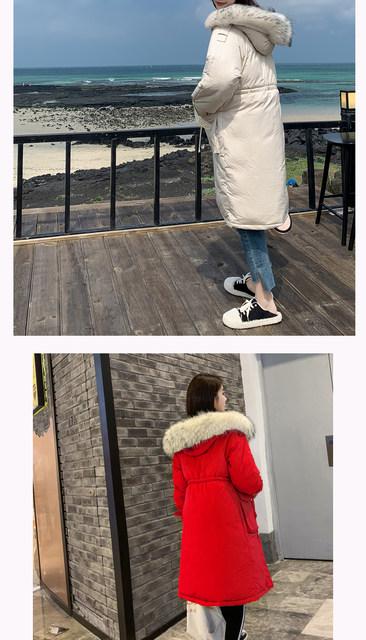 -30 Degrees Winter Women Long Parkas Jackets Plus Size M-5XL Thick Warm Big Fur Collar Female Slim Sintepon Parkas Outwear Coat 21