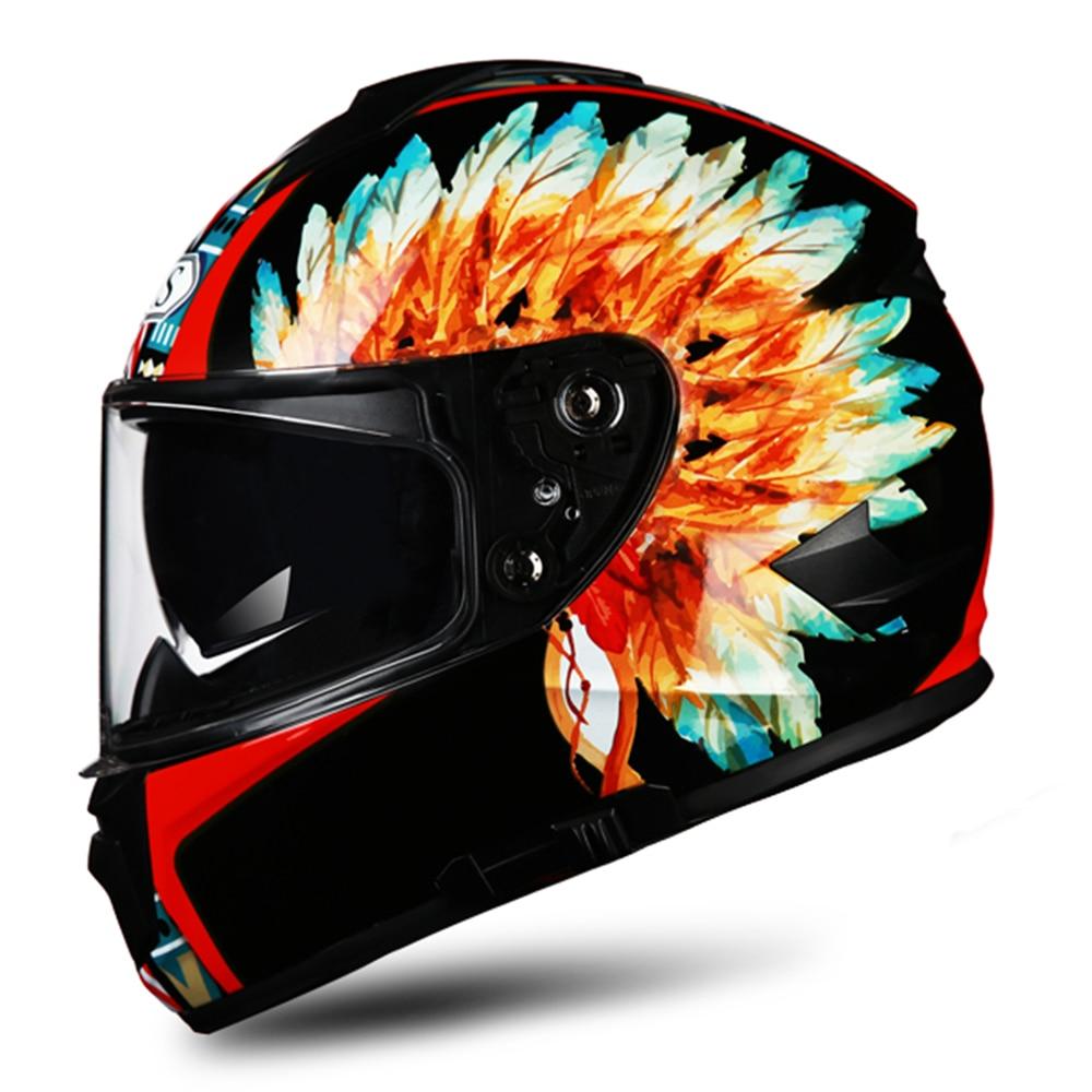 AIS Motorcycle Helmet Motocross Casco Moto Helmet Capacete Motorbike Crash Helmet Double Lens Full Face Helmets Casque Moto#