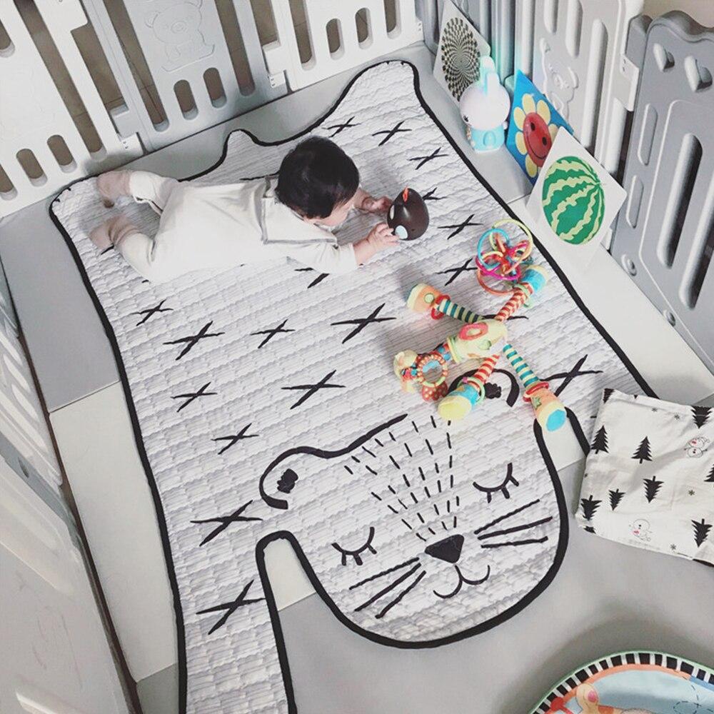 Jouets bébé tapis de jeu enfants tapis tigre blanc en peluche tapis pour salle de séjour décoration tapis de sol développement tapis pour enfants