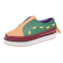 Europe 2019 Women Shoes Loafers Flats Platform Shoes Woman Fashion Sneakers Mixed Colors Casual Slip-On Shallow Plus Size 35-43 цена
