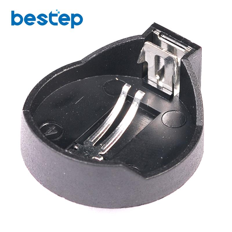 10Pcs Black CR2025 CR2032 3V Button Coin Cell Battery Socket Holder Case Wholesale