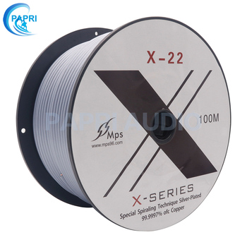 PAPRI Audio Cables HIFI MPS Signal Line X-22 99.99997% 5N OFC Silver Plated Wire DIY Upgrade Cable 1meter papri hifi mps m 8 mps high end flagship signal line 99 9997