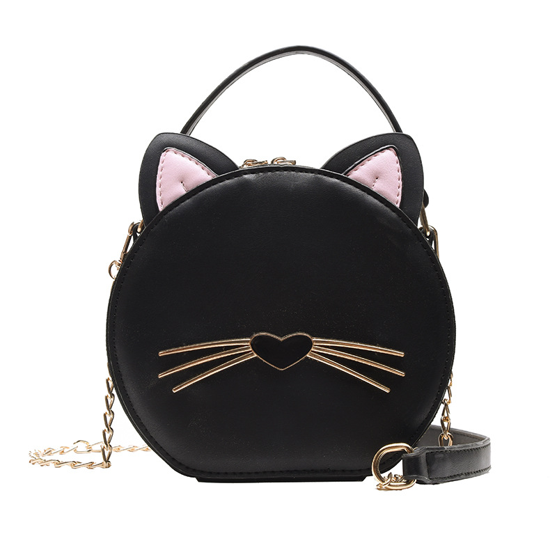 Women Harajuku Wind Cat Bag Ladies Black Messenger Bag Retro Small Crossbody Bags Gothic Alphabet Shoulder Bag