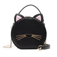 Women Harajuku Wind Cat Bag Ladies Black Messenger Bag Retro Small Crossbody Bags Gothic Alphabet Shoulder Bag