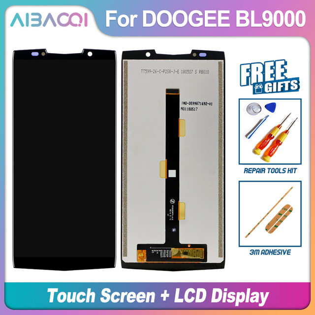 AiBaoQi New Original 5.99 inch Touch Screen+2160x1080 LCD Display Assembly Replacement For Doogee BL9000 Android 8.1 Phone