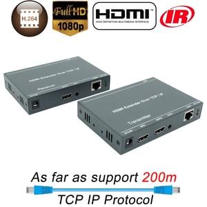 Image 5 - 660ft lepiej niż HDBitT H.264 konwerter HDMI TCP IP HDMI IR Extender przez Ethernet RJ45 CAT5/5e/6 kabel jak rozdzielacz HDMI