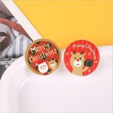 120 шт круглая уплотнительная Стикеры Счастливого Рождества