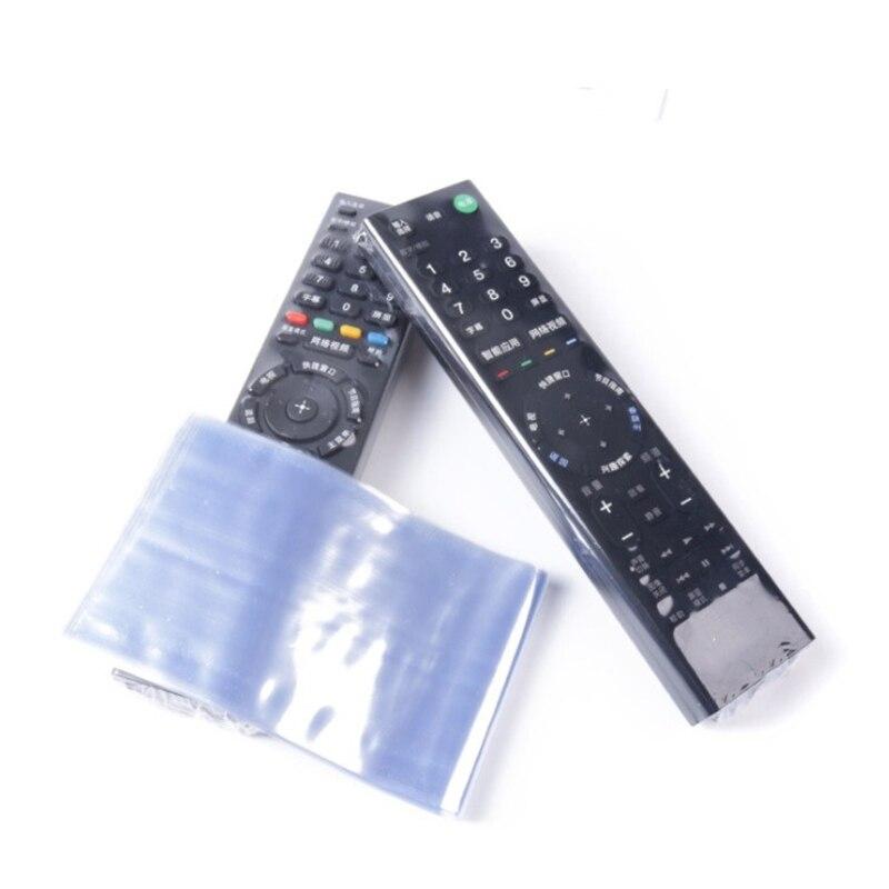 10 pçs claro saco de filme de psiquiatra tv controle remoto caso capa ar condicionado controle remoto protetor anti saco de poeira|Controles remotos|   -