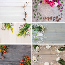 SHENGYONGBAO Vinyl Custom Photography Backdrops  Flower and Wooden Planks Theme Background 191030BV-001