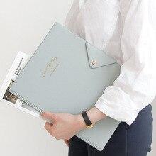Новый милый большой органайзер для документов для офиса и школы в Южной Корее, портфель для канцелярских принадлежностей, Подарочная папка для менеджера A4