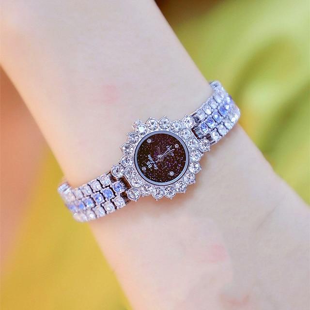 Watches Womens 2020 Top Luxury Brand Small Dress Diamond Watch Women Bracelet Rhinestone Wristwatch Women Montre Femme  8