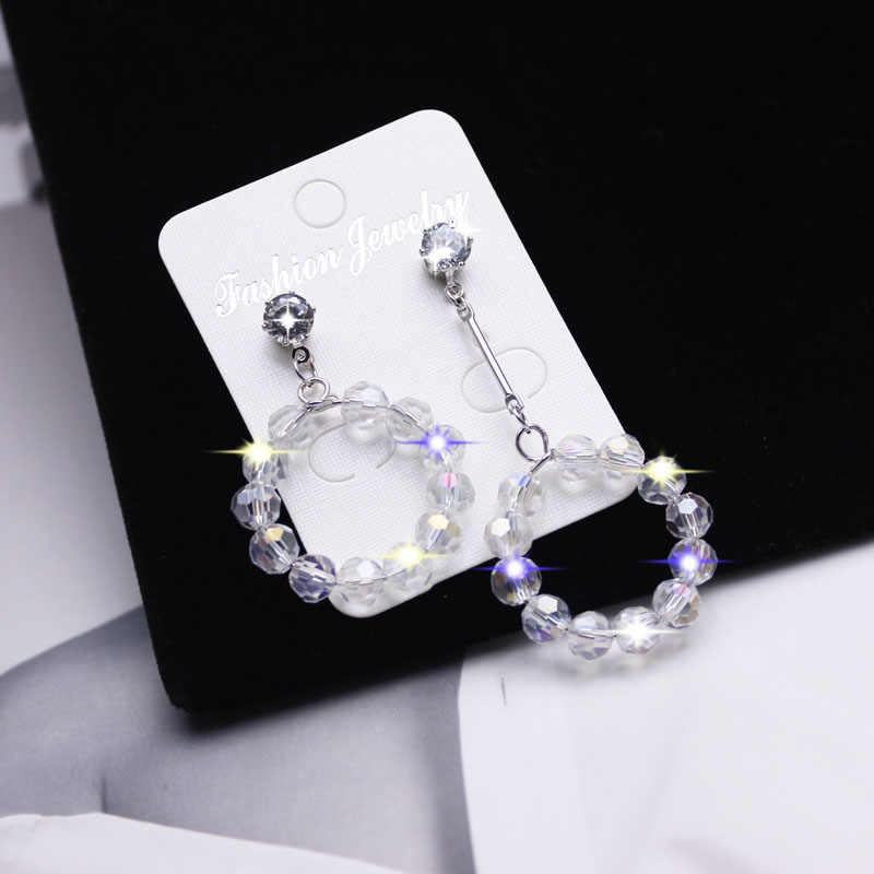 Shiny Side New Women's Fashion Brand Jewelry Crystal Beads Stud Earrings for Women Gift Irregular Pearl  Earrings
