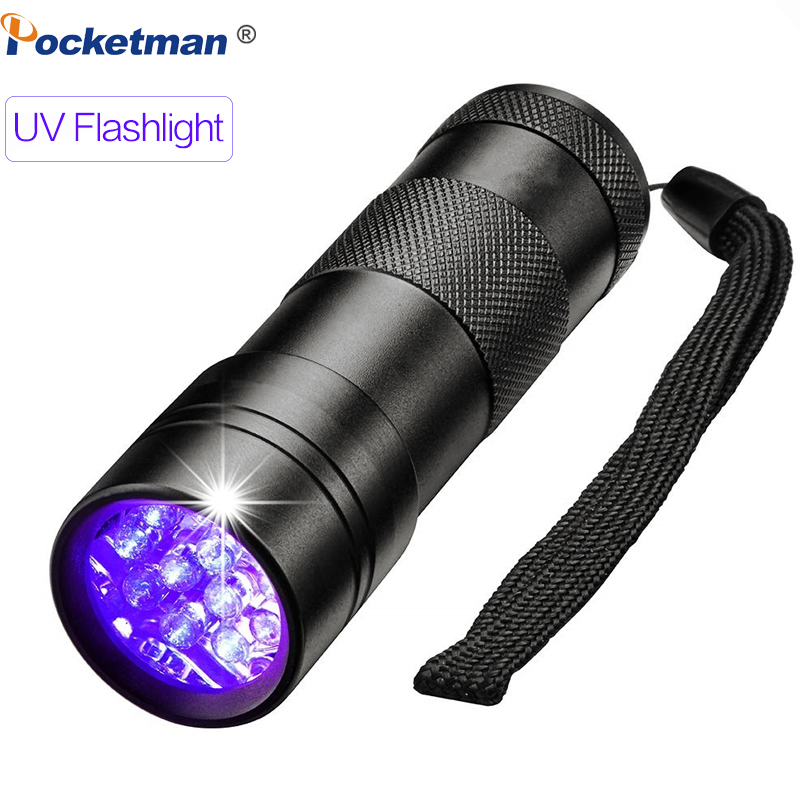 Black Light UV Flashlight 12 LEDs 395nm Ultraviolet Urine Detector Torch Linterna For Dog/Cat/Pet Urine & Dry Stains