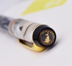 Image 2 - Kaigelu 316 Selüloit tükenmez kalem Pürüzsüz Dolum, Güzel Mermer Beyaz Desen Yazma Hediye Kalem Ofis Iş Malzemeleri