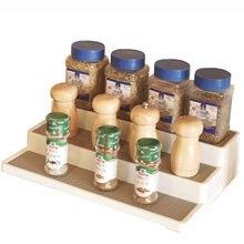 Nouveau support à épices antidérapant à 3 niveaux, étagère de Rangement facile à installer et à nettoyer pour le Rangement de la Cuisine