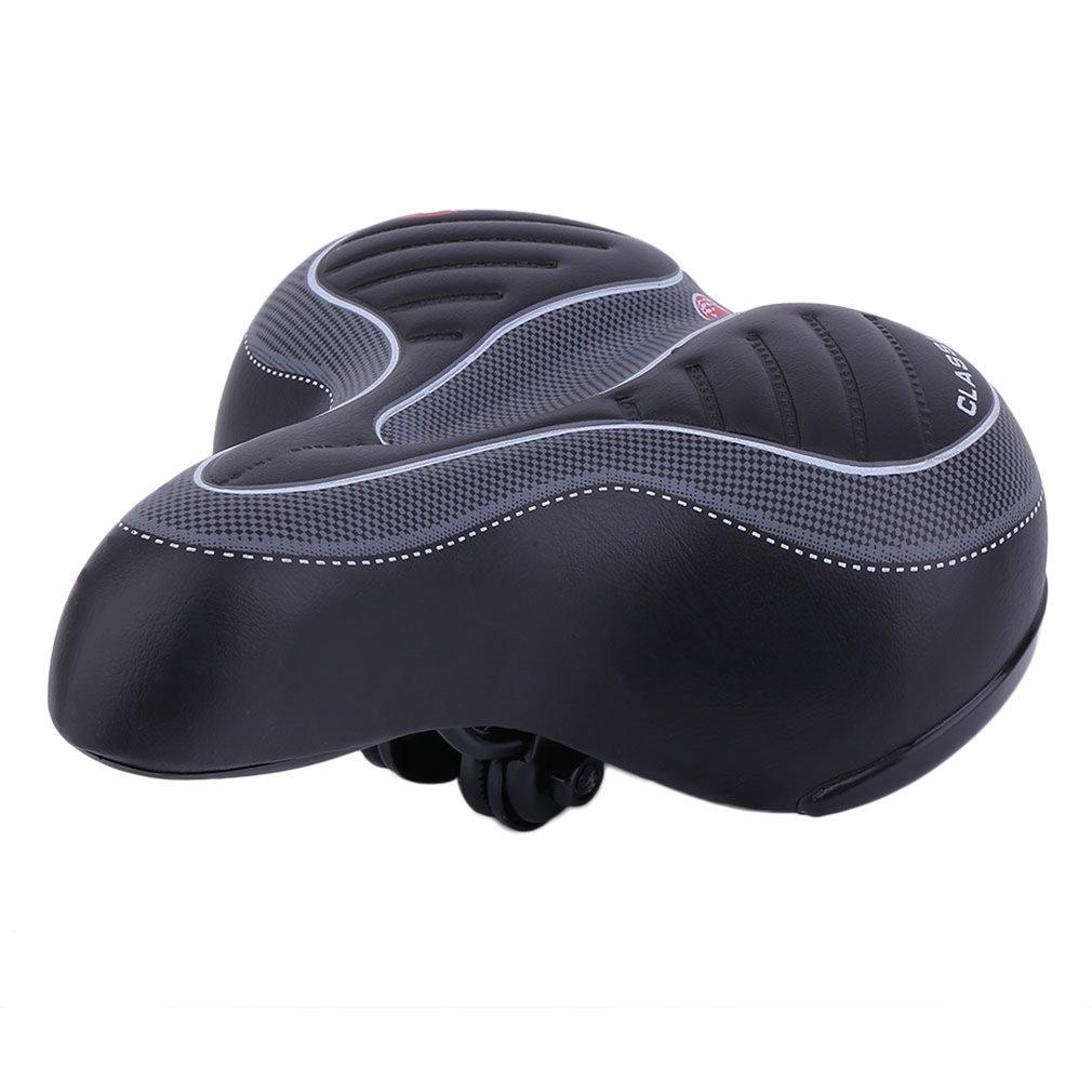 Comfortable Wide Big Bum Bike Bicycle 3D Gel Cruiser Extra Soft Pad Saddles Seat