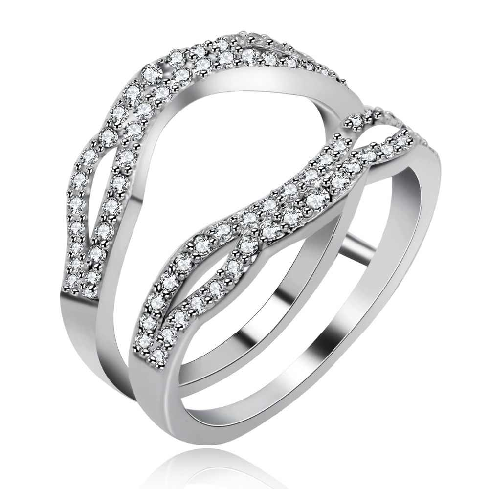925 Sterling Silver Marquise Cut Cubic Zirconia Wedding Ring
