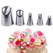 5 шт насадка для пирожных набор кремового Сталь нержавеющая