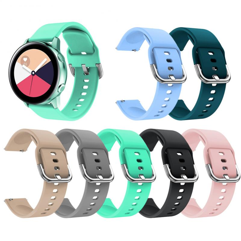 Newly Silicone Watchband For Samsung Galaxy Watch Active 20mm Bracelet Smart Sport Strap For Samsung S2 Sport  Watch Strap
