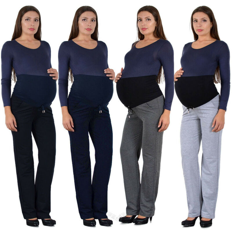 Maternity Pants Legging Pregnancy Clothes Women Loose Sport Casual Pants Pregnant Women Trousers Belly Protection Wide Leg Pants
