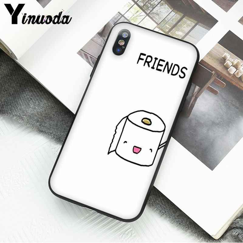 Yinuoda BFF เพื่อนที่ดีที่สุดเบอร์เกอร์และ Fries อาหารที่มีสีสันน่ารักสำหรับ iPhone 6S 6plus 7 7 PLUS 8 8 PLUS X XS MAX 5 5S XR