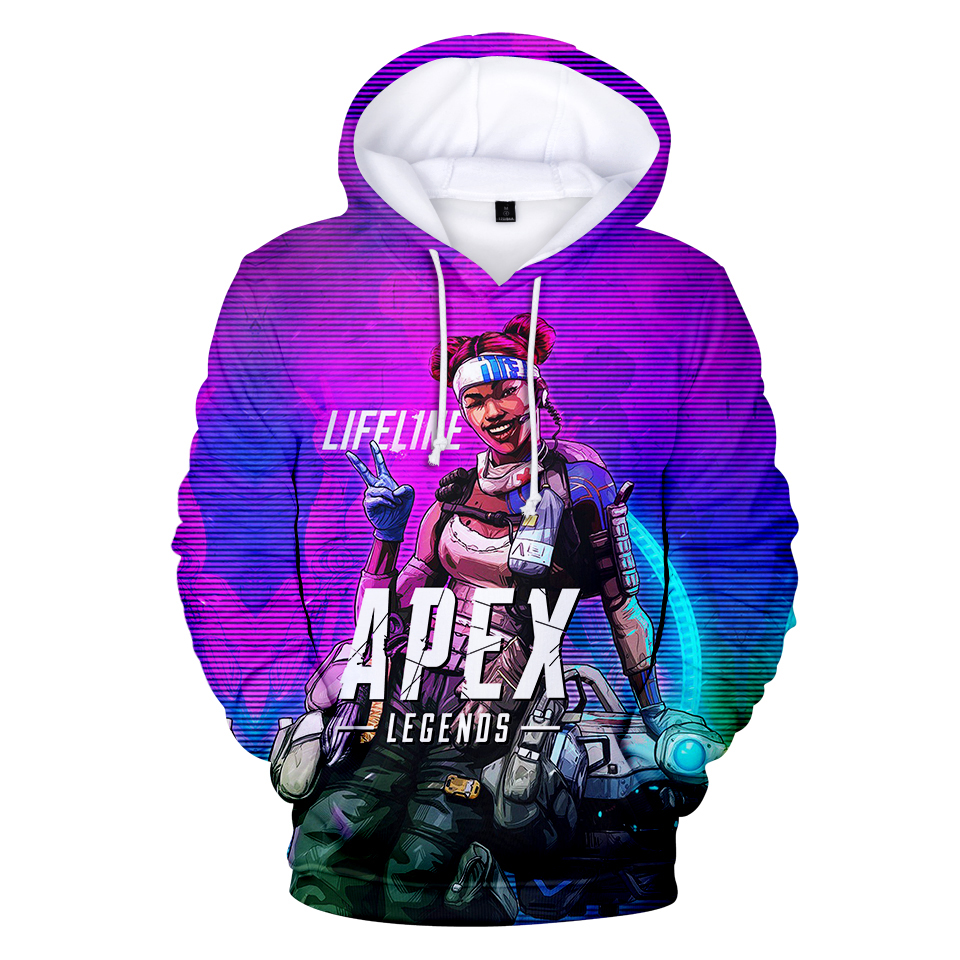 2019 New 3D Apex Legends Game Hooded Sweatshirt Men/Women Spring Casual Harajuku Hooded Plus Size 4XL Clothes Coat
