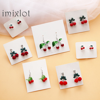 Korea Cute Fruit Cherry Drop Earrings For Women Girls Kids Jewelry Trendy Crystal Acrylic Resin Enamel.jpg 350x350 - Korea Cute Fruit Cherry Drop Earrings For Women Girls Kids Jewelry Trendy Crystal Acrylic Resin Enamel Earrings Gifts 2019 New