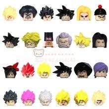 Dragão anime figura personagens buliding blocos dos desenhos animados figuras anime cabeças tijolos moc brinquedos educativos para crianças presentes