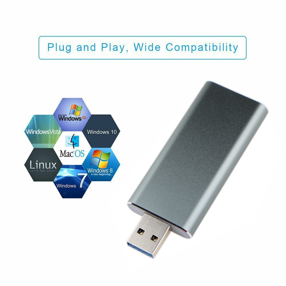 USB3.0 TO M.2 NGFF SSD Enclosure Drive External Case Adapter UASP Speed 5Gbps