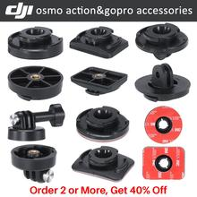 Ulanzi Osmo Action caméra accessoires Kit Gopro adaptateur support de montage avec 3M adhésif pâte autocollant pour Osmo Action