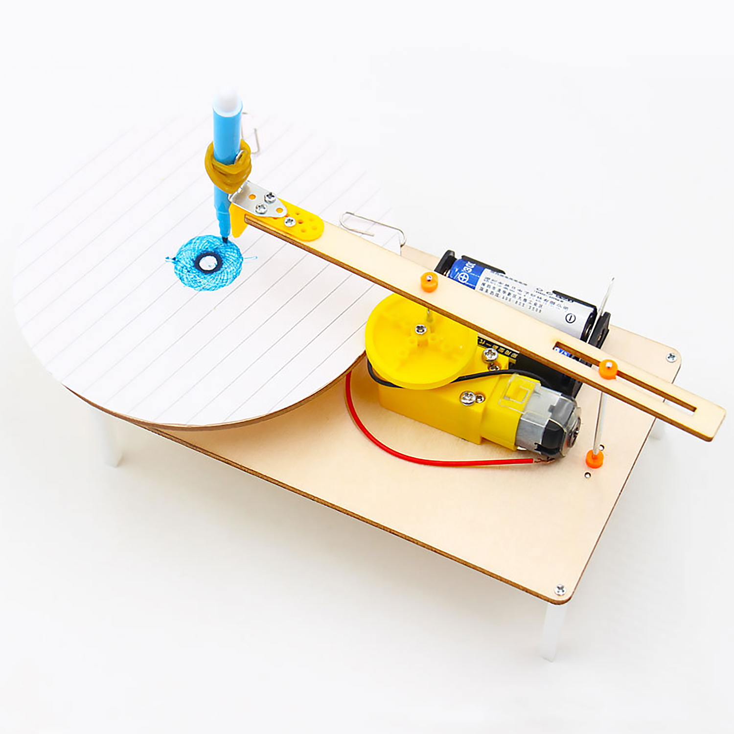 Wooden DIY Electric Plotter Kit Physics Scientific Experiment Educational Toy For Kids Children School Project Homework