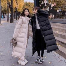 冬のジャケットの女性服パーカー付きウォーム厚みダウン綿のコートの女性が詰めオーバーサイズルーズ冬の女性のコート Q2241