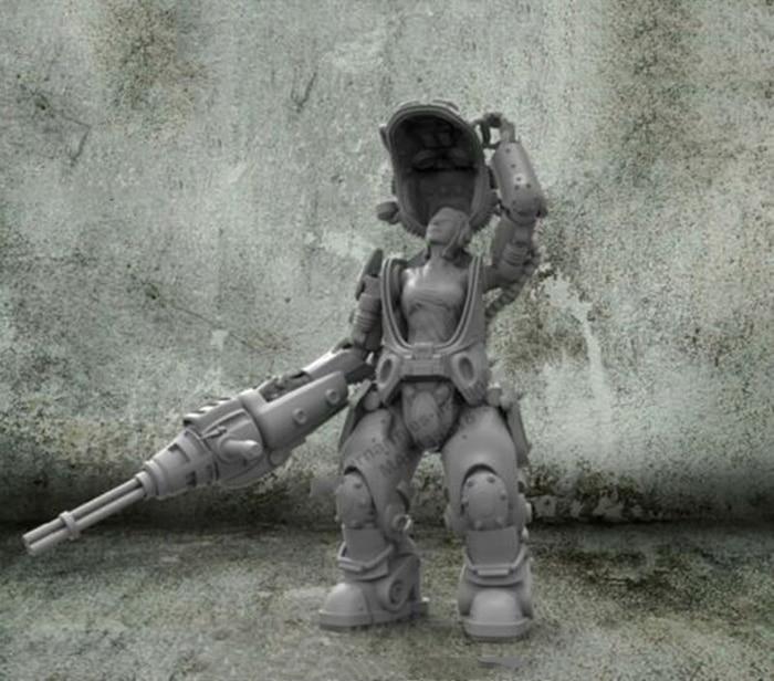 1/35  Fantasy Woman Warrior Resin Figure Model Kits Miniature Gk Unassembly Unpainted