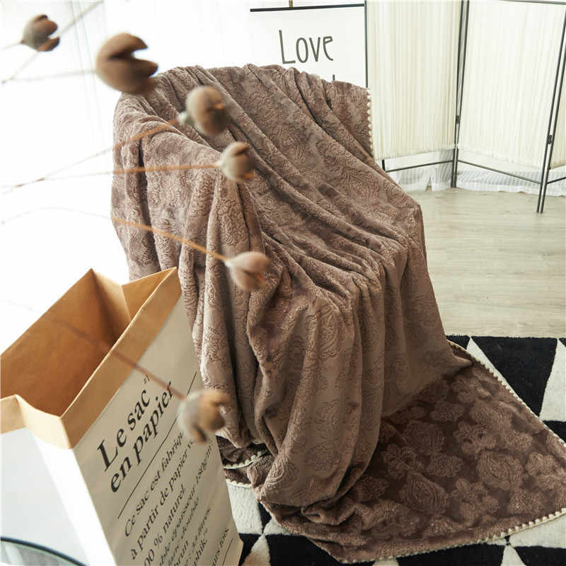 Soft Home Blanket for Sofa Bed Airplane Travel Quilt Candy Color Baby Bedspread Queen King Size