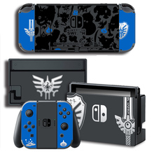 Vinyl Screen Skin Sticker Doragon Kuesuto Skins Protector Stickers for Nintendo Switch NS Console + Controller + Stand Sticker