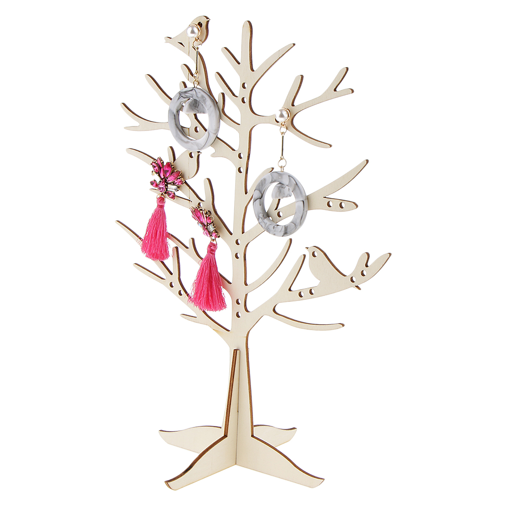 29 Holes Jewelry Display Stands Bird Tree Holder For Earrings Organizer Rack